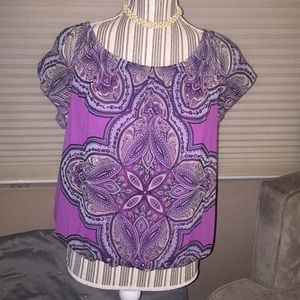 Purple, jeweled INC top